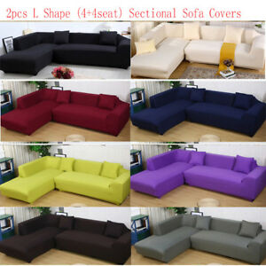 Sensational Details About 4 4 Seat L Shape Sofa Couch Cover Sectional Stretch Elastic Fabric Slipcover Usa Ibusinesslaw Wood Chair Design Ideas Ibusinesslaworg