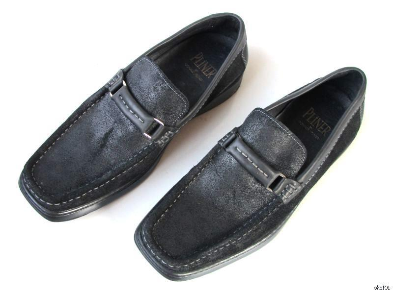 New mens mens mens DONALD J PLINER black suede LOAFERS shoes 8 - very comfortable 1f55fa