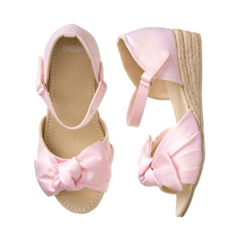 NWT Gymboree Dressed Up Pink Bow Espadrilles Shoes Kids Girl Easter Wedding