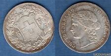 Suisse - 5 Francs 1890 Argent TTB  Very Very Fine - Swiss Helvetia 305 000 Exemp