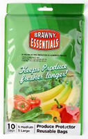 Brawny Produce Protector Reusable Bags Set of 10 NEW