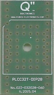 """DE 10 Stück Adapterplatine für SOT363 mit 0.65mm auf DIP6 0.3/"""" Sockel."""