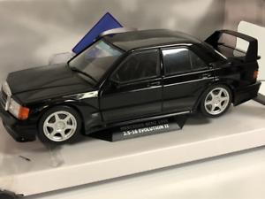 Mercedes-Benz-190-EVO2-1990-Noir-1-18-Echelle-Solido-1801001