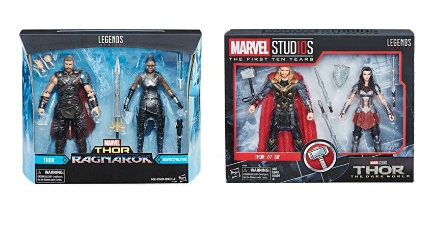 Marvel - legenden ragnarök thor valkyrie & dunkle welt thor sif set von 2 abbildung neue