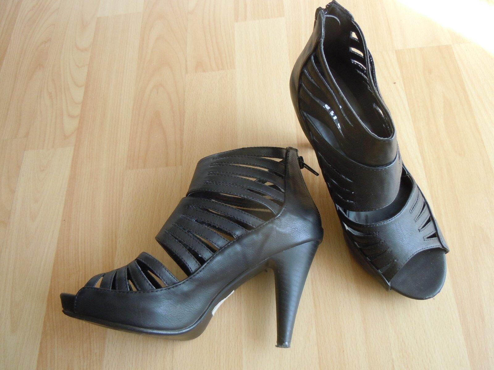 Gentleman/Lady High Heels Riemchen Sandaletten, schwarz Various styles workmanship In short supply Exquisite workmanship styles 674fd9