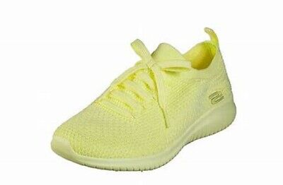 costilla Imaginativo Perca  Skechers Women's Ultra Flex-Pastel Party Trainers, (Yellow YEL) | eBay