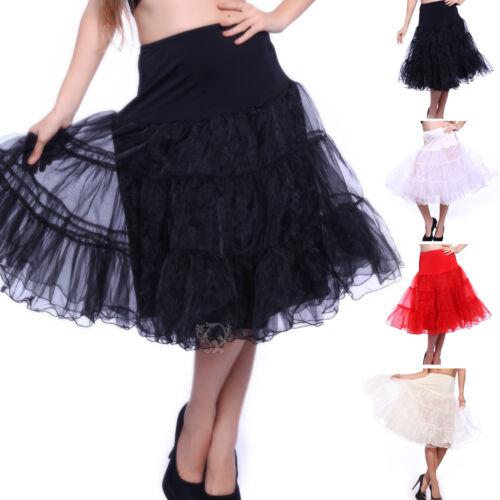 """27/"""" 25/"""" Rockabilly Vintage Petticoat 50s Wedding Swing Prom Hoopless Underskirt"""
