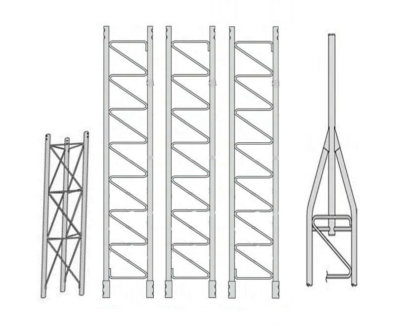 ROHN 45SS040    45G Series 40' Self Supporting Tower Kit . Available Now for 1424.00