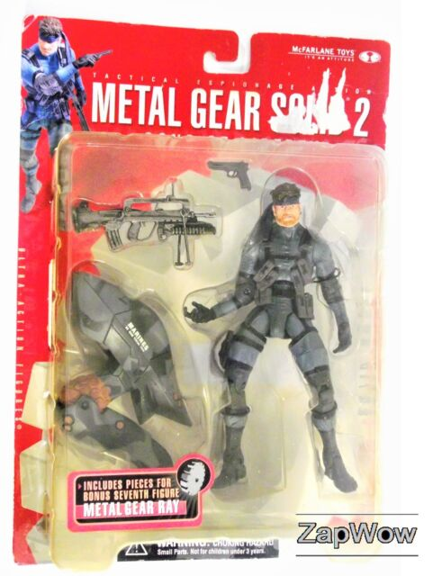 SOLID SNAKE 2001 McFarlane Metal Gear Series 2 Action Figure Game Toy MOC 2000s
