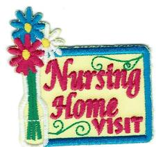 Girl Boy Cub Nursing Home Visit Yellow Tour Fun Patches Crest Badge Scout Guide