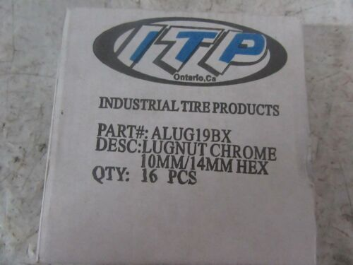 16PK Tapered Lug Nut 12MMX1.25 WPS #57-94136 CHROME Item #2014 NEW
