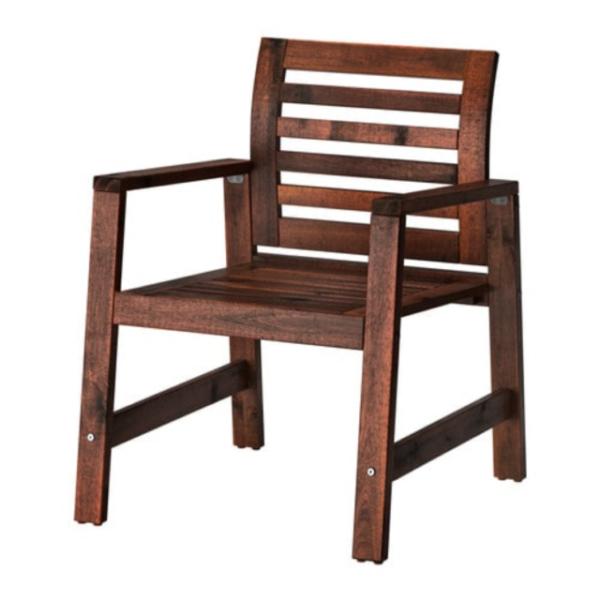 Ikea Applaro Armchair Chair Outdoor Patio Brown ÄPPLARÖ ...
