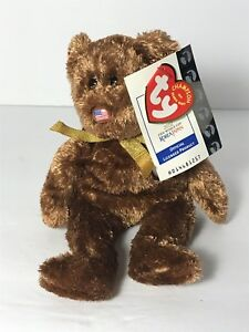 RETIRED TY Beanie Baby The Champion Bear USA 2002 FIFA World Cup ... f7a4eb2e1a0c