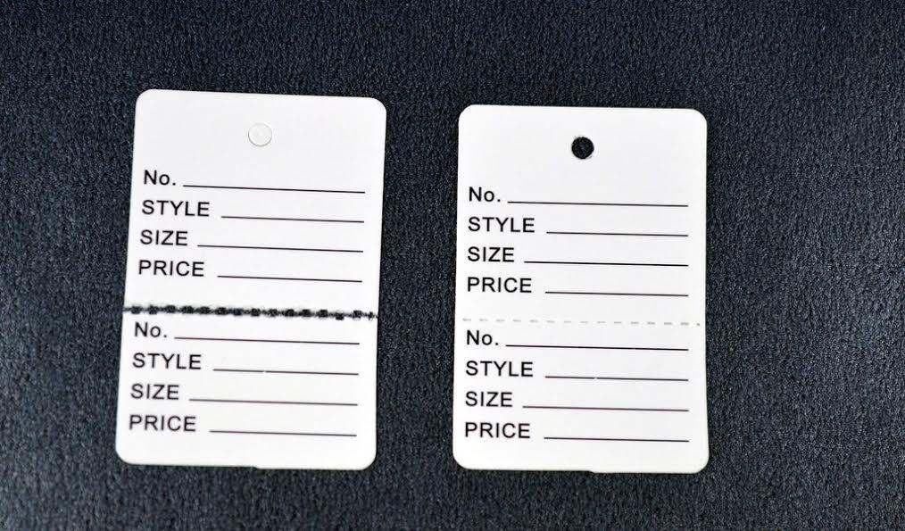 Weiß Manila Kraft Paper Price Jewelry Tags Combo CHOOSE Größe,Qnty & String Type