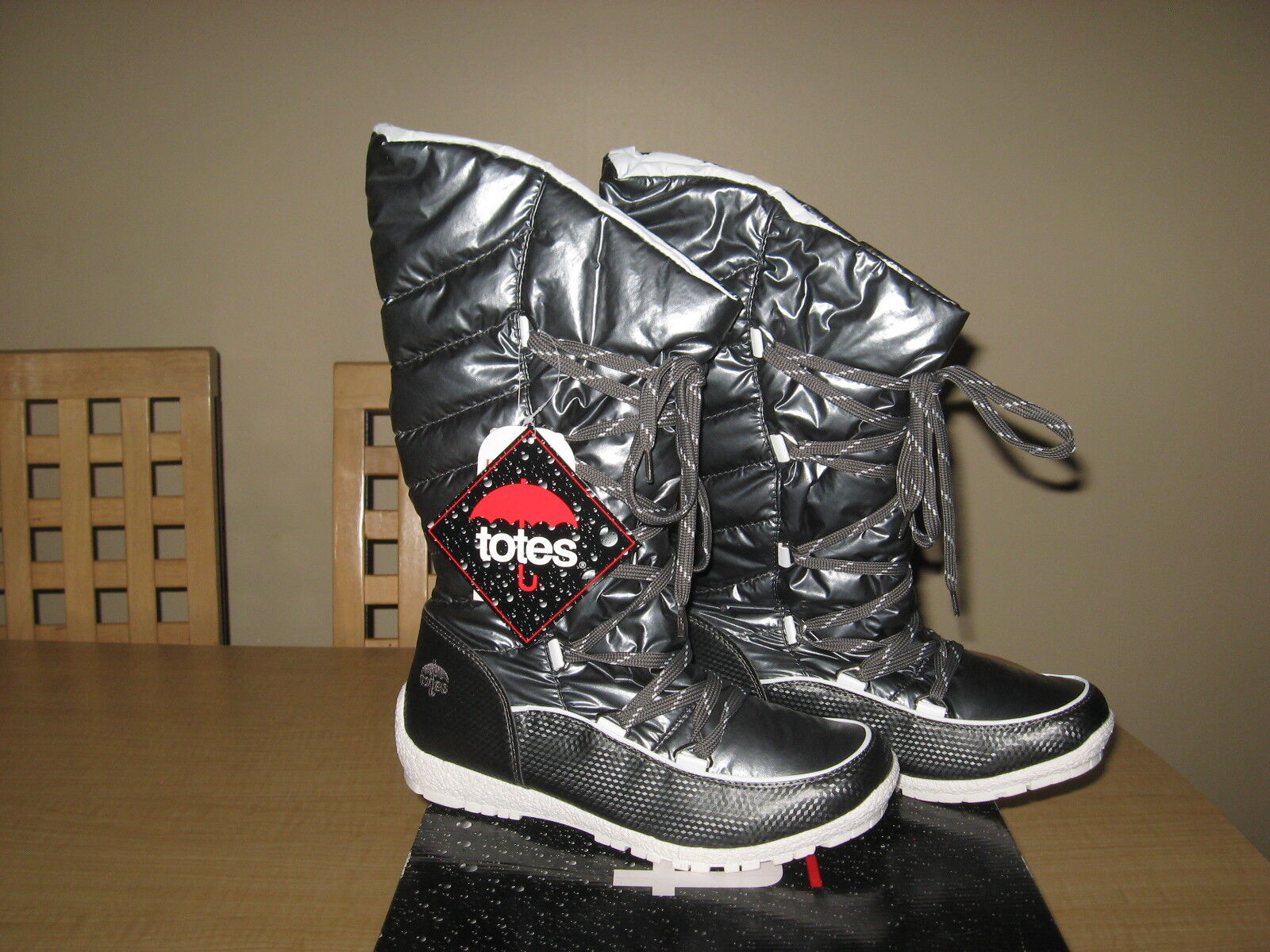 Totes - Aria - Women's Cold-Weather Waterproof Boots -Size  9M color  Pewter