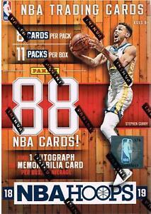 2018-19-Panini-HOOPS-Basketball-NBA-Trading-Cards-88ct-BLASTER-Box-1-Auto-Mem-OA