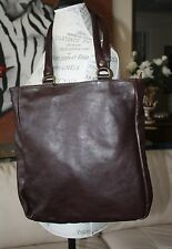 Jas M.B. Chocolate Brown Leather Tote British Luxury Leather Bag Handmade