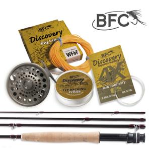 BFC descubrimiento HPS de Pesca con Mosca Caña Y Cocherete Combo Kit 9ft 6wt 4pc
