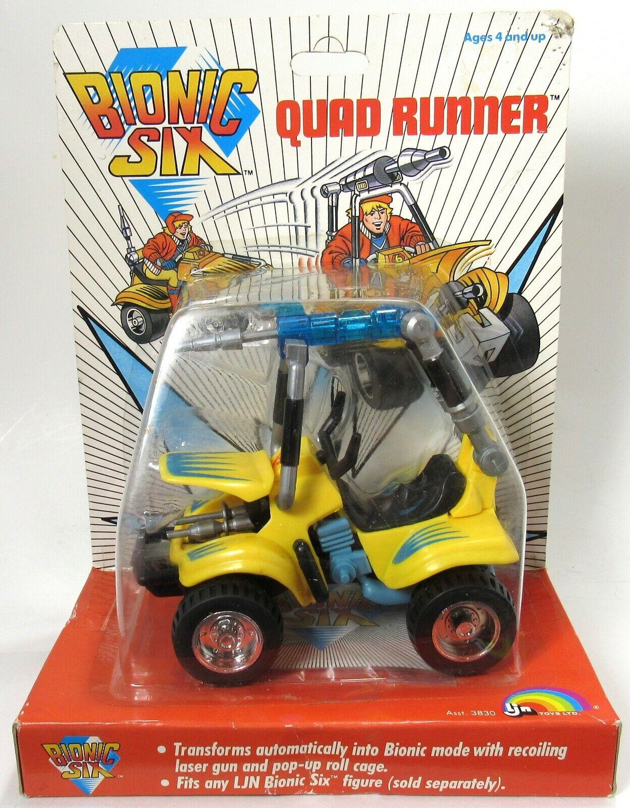 Nuovo Sealed Vintage LJN Bionic 6 Quad correrener 1986 RARE