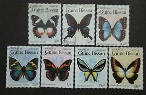 Guine-Bissau-1984-Butterflies-And-Moths-7v-Used