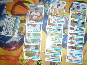 1974-1975-Topps-Baseball-Lot-48-Cards-Rangers-Poor-Ex-Cond