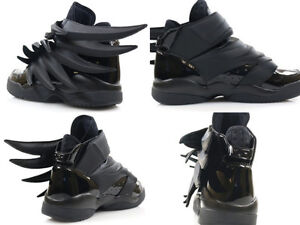 reputable site 960a5 c880d Image is loading Adidas-Jeremy-Scott-Wings-3-0-BLACK-Dark-