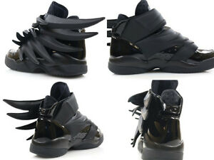 Adidas Jeremy Scott Wings 3.0 BLACK Dark Knight Batman Shoes Women s ... e76c39184f
