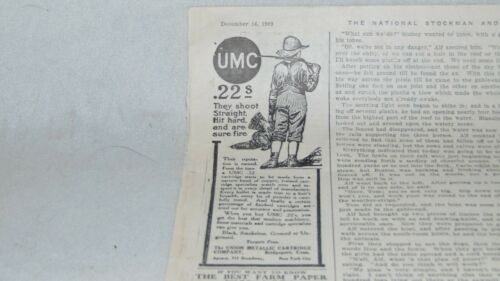 1909 UMC .22 CARTRIDGES AND KEEN CUTTER AND OTHER ADVERTISING