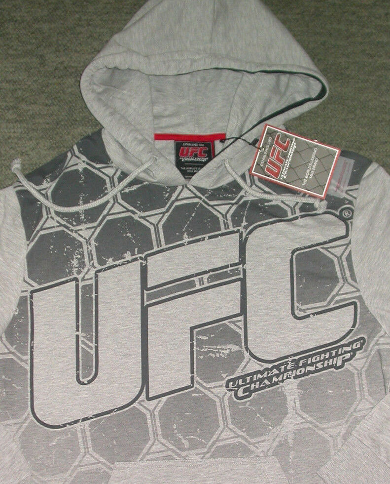 UFC HOODY SWEATSHIRT LARGE L BJJ JIU JITSU MMA MUAY THAI BOXING GYM CROSSFIT NEW