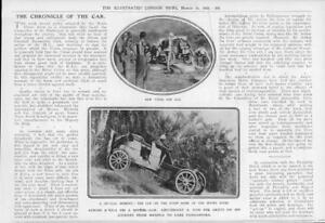 1908-Antique-Print-MOTOR-CAR-Africa-Mtiwe-River-Papua-Lake-Tanganyika-345