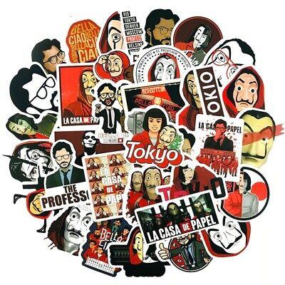 Money Heist TV Series Themed 50 Pcs Sticker Decal Set