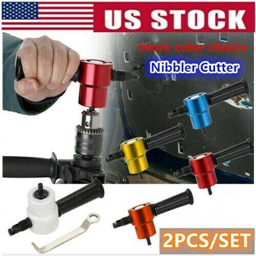 REXBETI Drill Attachment Metal Cutter US 2pcs Double Headed Sheet Metal Nibbler