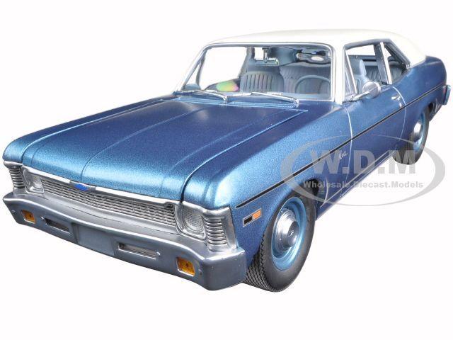 1970 Chevrolet Nova Beverly Hills Cop (1984) azul Ltd Ed 1200pc 1 18 Gmp 18802