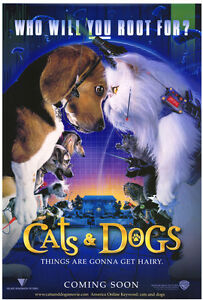 CATS-amp-DOGS-MOVIE-POSTER-Original-DS-27x40-Rolled-2001-Film