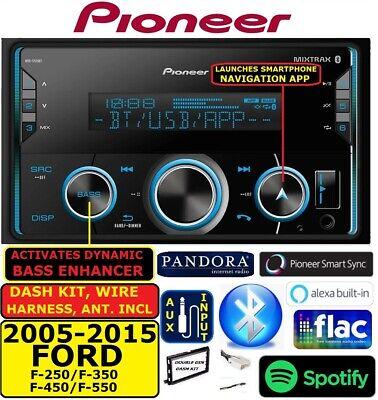 2015 ford f 250 radio wiring harness 2005 2015 ford f250 350 450 550 pioneer am fm usb aux bluetooth  2005 2015 ford f250 350 450 550 pioneer
