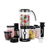 Vonshef 4 In 1 Multifunctional Blender, Smoothie Maker, Juicer, Grinder - Silver