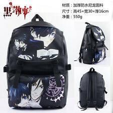 Black Butler 2 Kuroshitsuji II Ciel&Sebastian Schoolbag Bag Backpack Cosplay