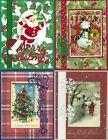 Handmade VINTAGE CHRISTMAS CARDS #CV2-Lot of 4