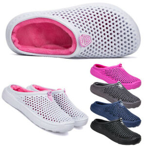 Mens-Womens-Winter-Slippers-Indoor-Outdoor-Mules-Plush-Lined-Warm-House-Shoes-UK