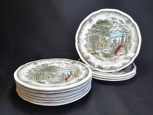 Kensington Staffords Shakespeare's Sonnets Set of 10 Bread and Butter Plates