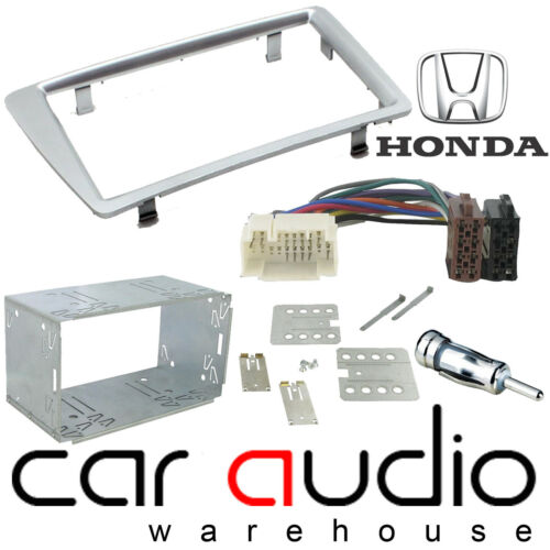 CT23HD19 Honda Civic RHD 01-06 Car Stereo Double Din Fascia Panel Kit SILVER