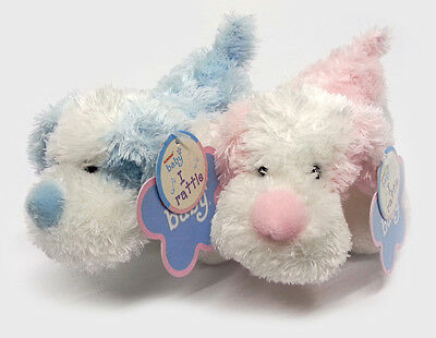 Aurora Baby - Dog Rattle - All Ages Infant Safe Soft Plush Kids Sweet Cute Toy