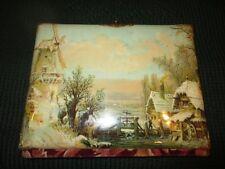 Antique Vintage Victorian Celluloid  Photo Album - Dutch Pastoral Scene - Beau