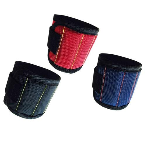 Magnetic Wristband Wrist Band Tool Belt Cuff Bracelet Nail Screw Kit Set New