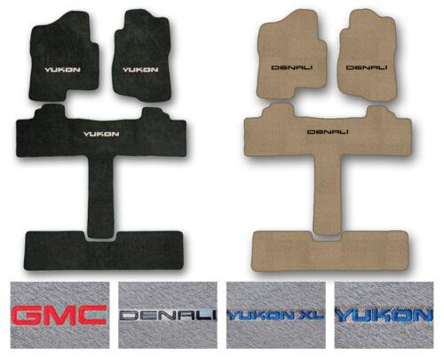 3-Row Carpet Floor Mat Set for 2000-2019 GMC Yukon//Denali 2nd Row Captain