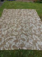 British Army Desert Camo Basha Waterproof Shelter Sheet Tent Tarp