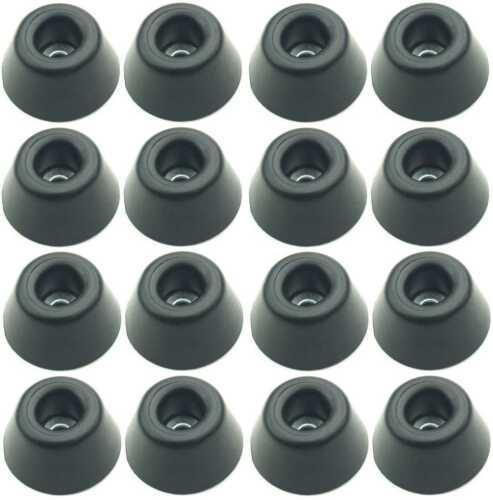 16 Gummifüße Ø 30 x 15 mm Stahleinlage Adam Hall 4901 Gerätefuß Möbelfüße Gummi