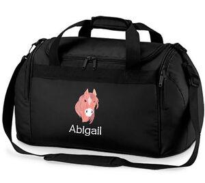 a Equitaci Personalizado Pony Travel Bag Deportes caballo Holdall Named 8HgdaH