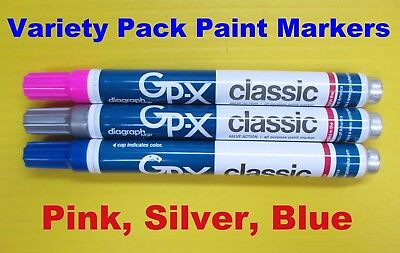NEW Variety Pack Diagraph GP-X MSP 11 Different Colors Pencil Paint Pen Markers
