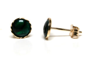 9ct Gold Abalone Button Stud earrings fVLCMq7MZ